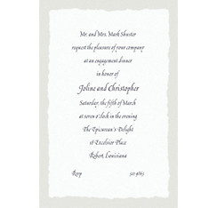 Gray Deckle Edge Custom Invitation