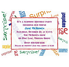 Surprise Fonts Custom Invitation