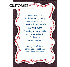 Over the Hill 30 Custom Invitation