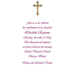 Small Detailed Cross Custom Invitation