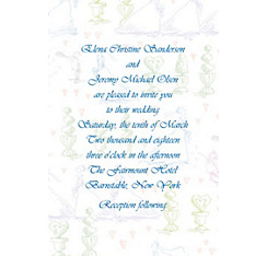 Wedding Procession Toile Custom Wedding Invitation