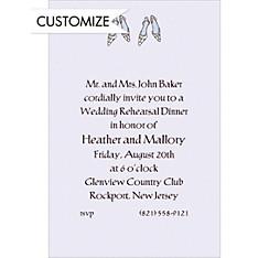 Bride and Bride Shoes Custom Wedding Invitation