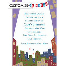 Skyline Party Custom Invitation