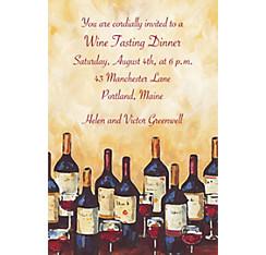 Painterly Wine Tasting Custom Invitation