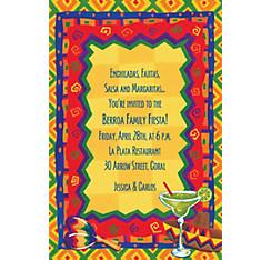 Colorful Fiesta Custom Invitation