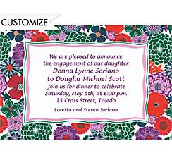 Multicolor Floral Custom Invitation