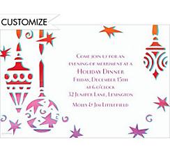 Cool Mod Ornaments Custom Christmas Invitation