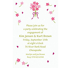 Bouquet & Florets Custom Bridal Shower Invitation