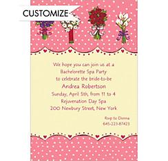 Array of Bouquets Custom Wedding Invitation