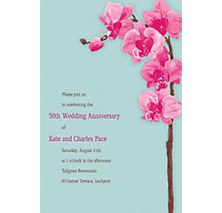 Elegant Orchids Custom Invitation
