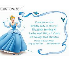 Cinderella with Birds & Ribbon Custom Invitation