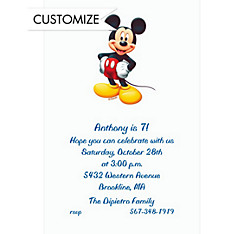 Mickey Mouse Custom Invitation