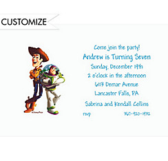 Buzz and Woody Custom Invitation