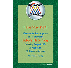 Miami Marlins Custom Invitation