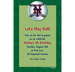 New York Mets Custom Invitation
