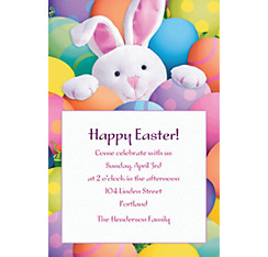 Peekaboo Bunny Custom Invitation