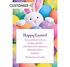 Custom Peekaboo Bunny Invitations