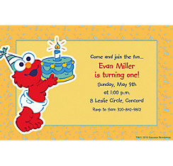 Elmo First Birthday Custom Invitation