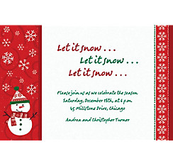 Very Merry Snowman Custom Christmas Invitation