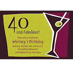 Shaken Martini Custom Invitation