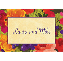 Bright Blooms Custom Thank You Note