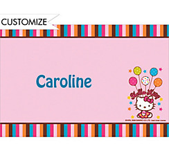 Hello Kitty Balloon Custom Thank You Note