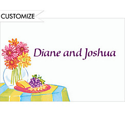 Wine & Cheese Table Custom Thank You Note