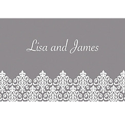 Unbridled Filigree Gray Custom Thank You Note