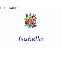 Party Cupcake Custom Thank You Note