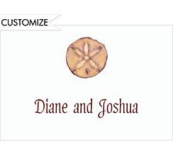 Sand Dollar Custom Wedding Thank You Note