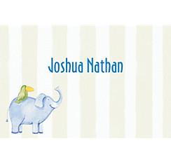 Cute Jungle Animals Stripe Custom Thank You Note
