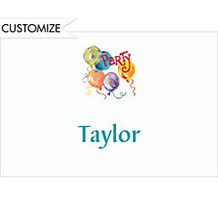 Party Balloons Custom Thank You Note