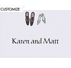 Bride and Groom Shoes Custom Wedding Thank You Note