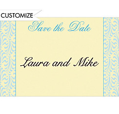 Formal Save-the-Date Custom Wedding Thank You Note
