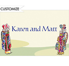 His and Hers Golf Clubs Custom Thank You Note