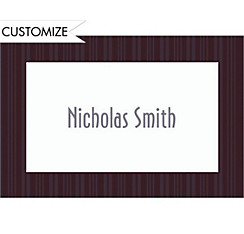 Charcoal Rhythmic Stripe Custom Thank You Note