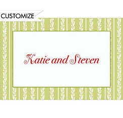 Honeydew Berry Stripe Custom Thank You Note