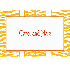 Sunshine Zebra Stripe Custom Thank You Note