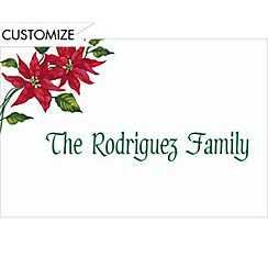 Poinsettia Custom Christmas Thank You Note