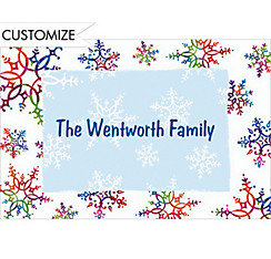 Festive Snowflakes Custom Christmas Thank You Note