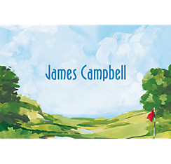Golf Course Landscape Custom Thank You Note