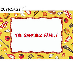 Tossed BBQ Objects Custom Thank You Note