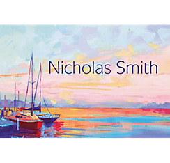Sailing at Sunset Custom Thank You Note