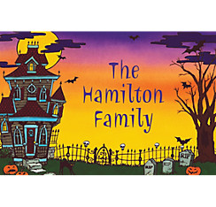 Haunted House Halloween Custom Thank You Note