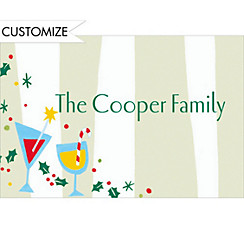 Christmas Cocktail Party Custom Thank You Note
