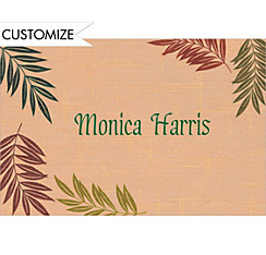 Fancy Ferns Custom Thank You Note