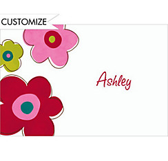 Oversized Retro Blooms Custom Thank You Note