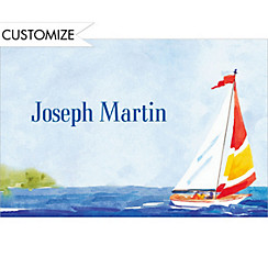 Summer Sailing Custom Thank You Note