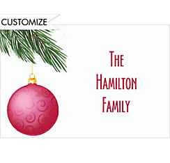 Dangling Ornaments Custom Christmas Thank You Note