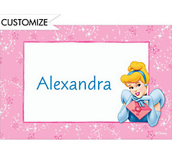 Cinderella on Pixiedust Swirls Custom Thank You Note